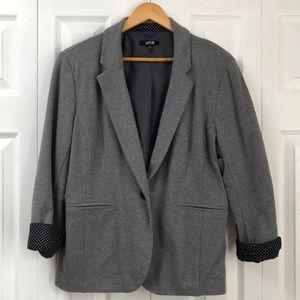 Grey Jersey Knit Blazer